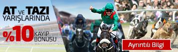 At ve Tazı Yarışlarında %10 Kayıp Bonusu